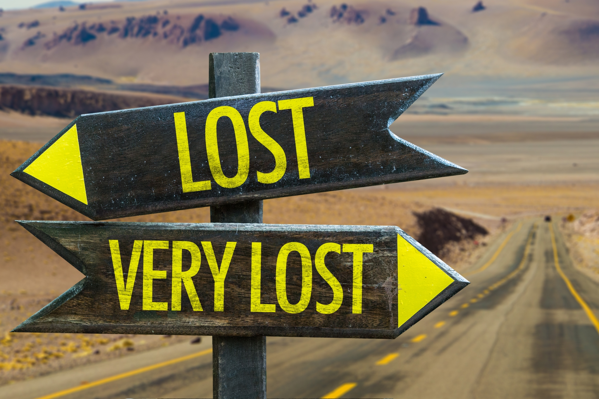 Lost - Very Lost sign